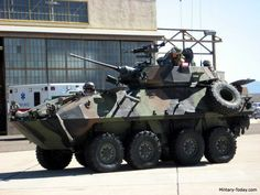 LAV 25 | LAV-25 Images -- pretty sure the marines call it a Stryker, but it's the same machinery. 25mm autoannon, co-ax 7.62mm machinegun, assorted secondary weapon mounts.