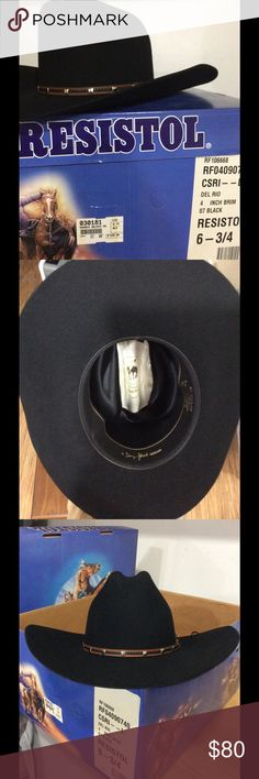 154e2bc1063 This Felt Hat can be re-shaped if needed. See to last photo of on line  price for classic Felt Hats 🤠🤠 Resistol Accessories Hats