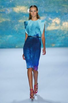 #NYFW sea-inspired dress Monique Lhuillier Spring 2013