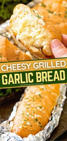 Have an easy summer grilling recipe in mind? Try this Cheesy Grilled Garlic Bread which is made right on the grill! This perfectly toasty, crunchy garlic bread with cheese is to die for! The ideal side dish for your grilled meats! Recipes With Yeast, Easy Homemade Recipes, Bread Recipes, Grilling Ideas, Summer Grilling Recipes, Summer Recipes, Side Dishes Easy, Side Dish Recipes, Dinner Recipes
