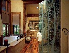 Love the trees on the shower surround