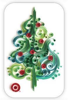 Christmas tree. Would look great with some quilled gifts under it.