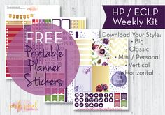 A free planner printable for Autumn or any time of year. Variety of purple colors and flowers. Sized for all your favorite planners including the Happy Planner and Erin Condren. Planner Tips, Free Planner, Budget Planner, Glam Planning, Bloom Planner, Printable Planner Stickers, Free Printables, Planner Organization, Organizing