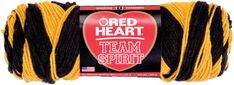 RED HEART-Team Spirit. Go Team! This two color self-striping yarn is great for supporting your favorite teams and schools
