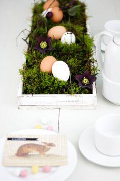 Easter table decoration | Österliche Tischdeko | Upcycling DIYby http://titatoni.blogspot.de/
