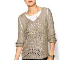 RD Style Open Gauge Sweater