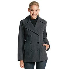 Anne Klein® Double Breasted Peacoat at www.herbergers.com