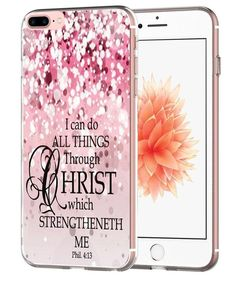 Case for 7 Plus Bible Verse Protective - Topgraph [Exact Slim Fit Clear with Design Full Coverage] Bumper Compatible for iPhone Plus [Christian Jesus Clear Soft TPU] Iphone 7 Plus Accessories, Apple Watch Accessories, Apple Iphone 6, Iphone 8 Plus, Iphone Cases Cute, 6s Plus, Protective Cases, Bible Verses, Cover