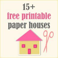 free printable DIY paper houses ♥ – free lantern houses, gingerbread houses, box houses, ornament houses – ausdruckbare Papierhäuser | MeinL...