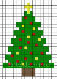 Bügelperlen Weihnachtsbaum Bastelvorlage 400