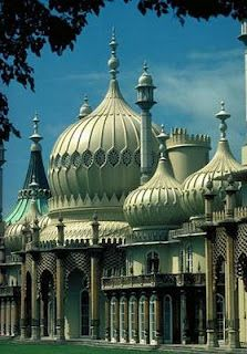 The Royal Pavillion, Brighton (on the south coast of England). Built for the Prince Regent, later King George IV, in stages between 1787 &1823, the Royal Pavilion is remarkable for its exotic oriental appearance both inside & out. This magnificent royal pleasure palace was revered by fashionable Regency society & is still a distinctive landmark for vibrant Brighton & Hove today. The Royal Pavilion is also home to some of the finest collections and examples of the chinoiserie style in…