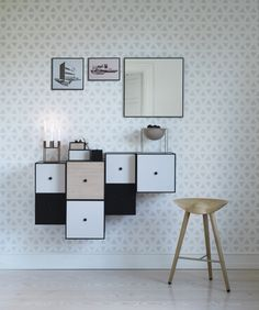 By Lassen Frame Storage Boxes | http://www.yellowtrace.com.au/2013/12/13/thin-black-lines-product-design/