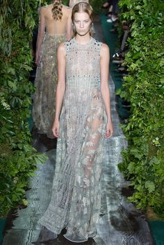 Valentino Fall 2014 Couture - Review - Vogue  love the colors in this dresss, so romantic.