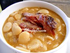 Butter Beans with smoked turkey legs ... made in slow cooker