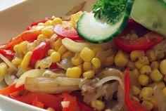 Baked Bell Pepper And Corn Salad