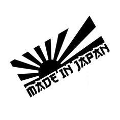 13*6CM RISING SUN MADE IN JAPAN Car Sticker Decal Motorcycle Stickers Car Styling Accessories Black/Silver C1-0187 * Uznayte bol'she, posetiv ssylku na izobrazheniye.