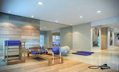 Um dos diferenciais do edifício é a sala de pilates equipada.