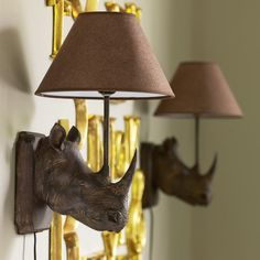 Not only do I LOVE these rhino head wall lamps, but I used to work right down the street from this store.