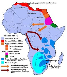 Map of Ancient Africa -- Courtesy of Return To Glory...