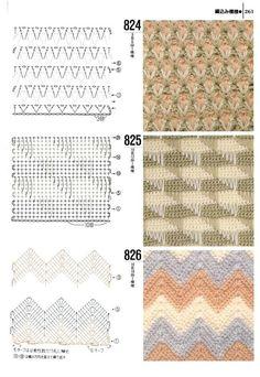 Knitting patterns book 1000 - 824 - 825 - 826