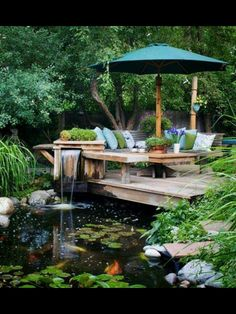 Add a Gazebo where the umbrella is and it would be my perfect dream meditation spot!