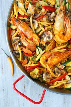 Le fideua aux gambas du Chef Jean-Sébastien de Zôdio Massy ! La recette ici : http://blog.zodio.fr/wp-content/uploads/Le-fideua.pdf