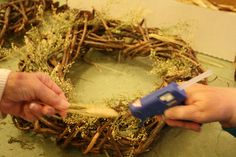Wreath Program at Wellington Reservation. Participants learned how to make grapevine wreaths and decorated with natural items.