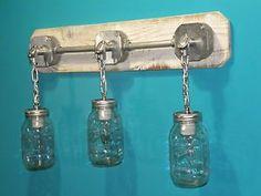 Awesome rustic mason jar light (ebay)