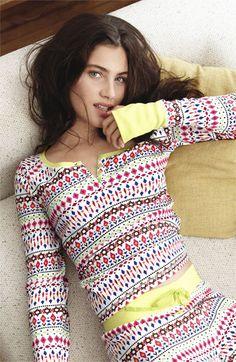 Steve Madden 'Cozy Up' Print Thermal Pajamas   Nordstrom... @Colette van den Thillart van den Thillart Girifalco Can we please get matching long johns?