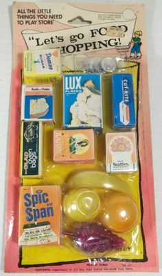 Vintage Dime Store Toys. I used to love these mini versions of the real thing! I still love Miniatures.