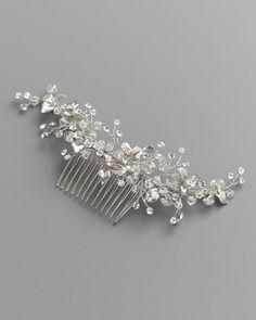 Concetta Swarovski Back Comb #darethcolburnbridal #bridalaccessories #weddingaccessories #bridalheadpiece #weddingheadpiece #bridalcomb #weddingcomb #crystalcomb #crystalhairaccessory