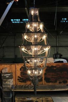 FACARO - CONNECT Series - incredible bicycle chain chandelier