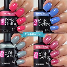 New Pink Gellac Spring Gel Polish Shades at Chickettes Boutique