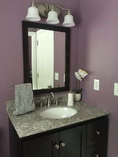 Venetian gold granite vanity tops 170 new venetian gold for Plum bathroom ideas