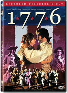 1776 (DVD) I love adding history movies (or musicals!) to our unit studies. This one will have everyone in the house humming the songs . 1776 Movie, 1776 Musical, Colonial America Unit, Ken Howard, Dean Norris, Jack Warner, William Daniels, Blythe Danner, American Girl Felicity