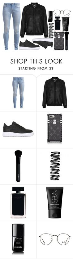"""It's dangerous how wrecked I am"" by antisocial-vagabond ❤ liked on Polyvore featuring 7 For All Mankind, Topshop, NIKE, Givenchy, Narciso Rodriguez, NARS Cosmetics, Chanel and Ray-Ban"