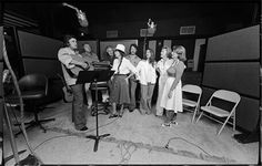 Johnny Cash, Cash family in studio, 1979 Outlaw Country, Country Music, Young Johnny Cash, Morrison Hotel, Ken Burns, Cash Cash, Music Artists, Find Image, Documentaries
