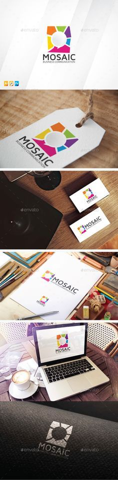 Mosaic Talk Logo Template #application #art #association #chat #chat_connect #colorful #communicate #communication #community #connect #consultant #conversation #design #dialog #discussion #forum #group #marketing #messaging #mosaic #people #service #sms #social #speaking #speech #speech_bubble #studio #talking #translation
