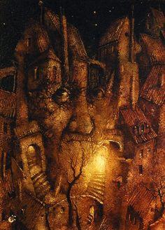 Pavel Čech – Židovské město Illustration Children, Book Illustration, Children Books, Typography Prints, Illustrations And Posters, Various Artists, Prague, Fantasy, Pictures
