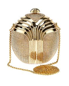 """Some of you have to get in on this: Judith Leiber """"Partbead"""" Deco Oval Crystal Clutch"""