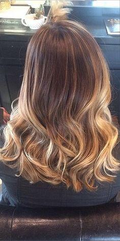 dark dark blonde or light light brunette sombre (sort of ombre) hair color