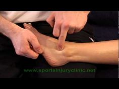 Frictions (sports massage technique) for ankle sprain injuries