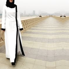 Pearl Abaya embellished with beads