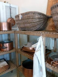 The Drill Hall Emporium: copper pans