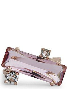 #WedwithTed @tedbaker TED BAKER Brijit crystal baguette ring