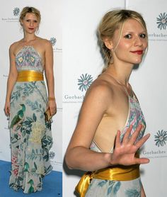 Claire Danes. The hair, the makeup, the dress. Love her.