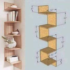 Home Decor Shelves, Wall Shelves Design, Home Decor Furniture, Furniture Projects, Bookshelf Design, Home Room Design, Home Interior Design, Kitchen Interior, Diy Home Crafts