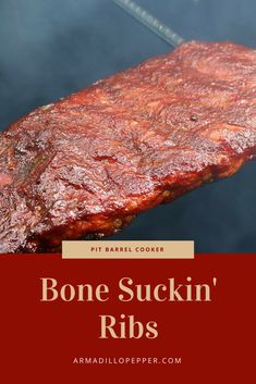 Bone Suckin' Ribs on Pit Barrel Cooker