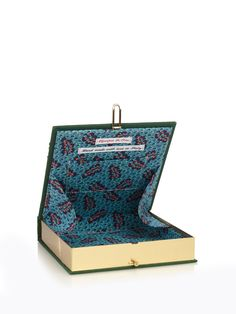 A Bigger Picture by David Hockey square box clutch   Olympia Le-Tan   MATCHESFASHION.COM