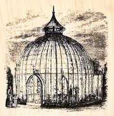 Vintage Tea or Orchid House Drawing from the Victorian Period